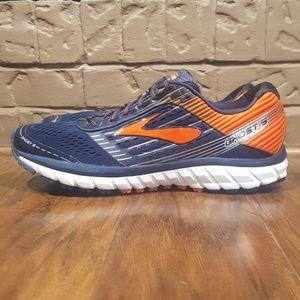 Brooks Ghost 9 Running Shoes, Navy/Orange, Size 12
